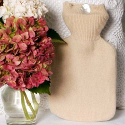 Clotted Cream Coloured Cashmere Hot Water Bottle Cover