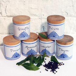 French Spice Jars
