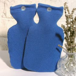 Rich Royal Blue 100% Cshmere Hot Water Bottle Cover