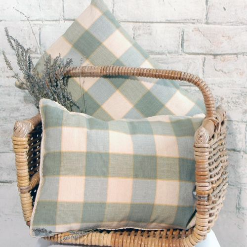 Sage Green and Cream Scatter Cushion